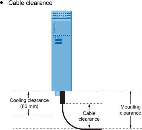 ● Cable clearance