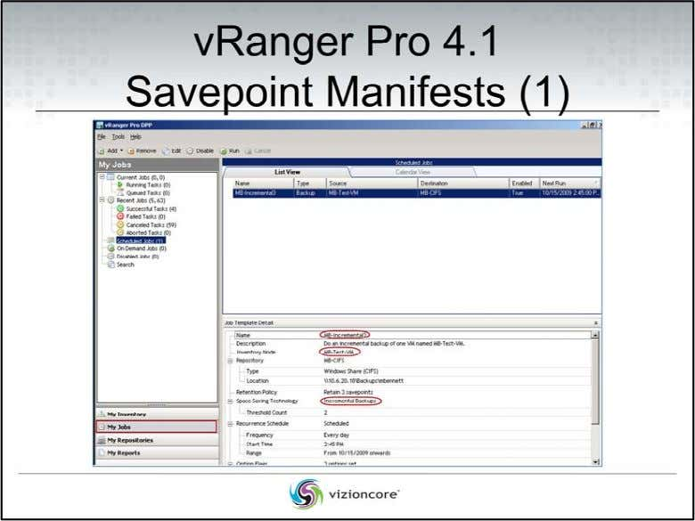 • Savepoint Manifests (1) In the above screenshot, we clicked on the My Jobs button
