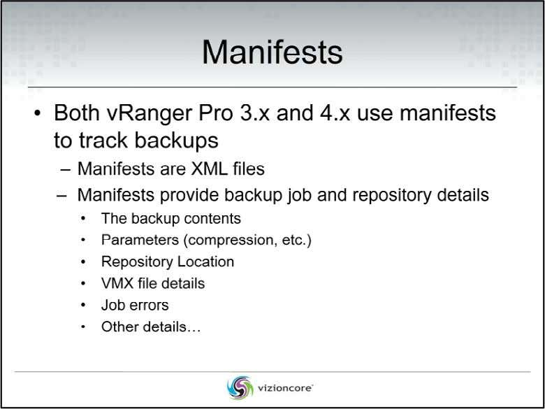 Before we can discuss what's new in vRanger Pro 4.1 DPP, it is important that