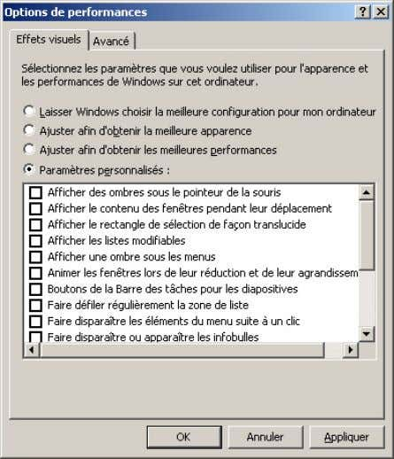 Support Windows Xp - 42 / 92 - 2. Régler le fichier d'échange ou swap Dans