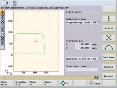 to delete and insert contour elements at a later stage SINUMERIK 802D sl pro - Milling
