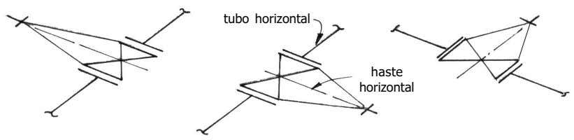 tubo horizontal haste horizontal