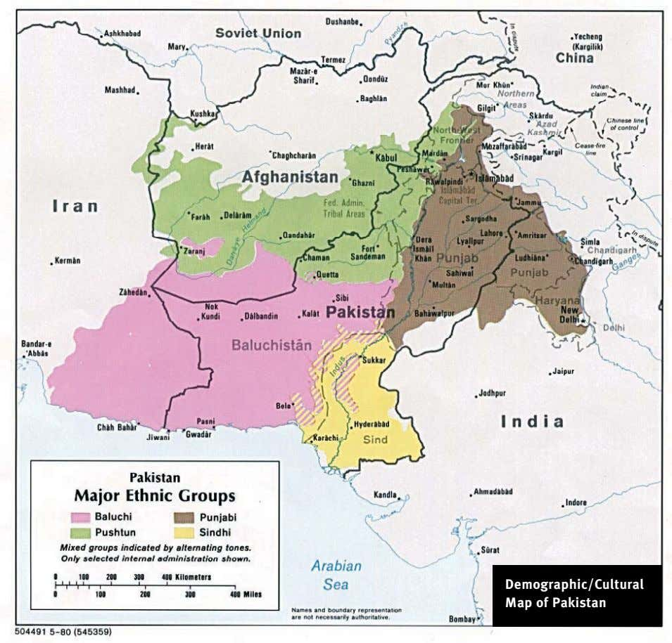 Demographic/Cultural Map of Pakistan