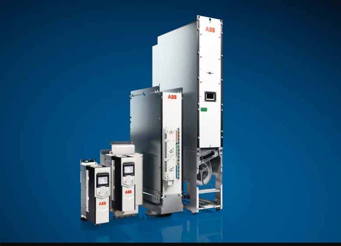 Low voltage AC drives ABB industrial drives ACS880, drive modules 1.5 to 250 kW Catalog