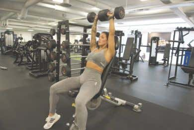 EXERCISE LIBRARY: WEEK 1 DAY 2 Seated DB Shoulder Presses Seated DB Lateral Raises Incline DB