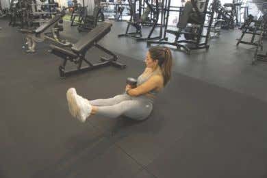 EXERCISE LIBRARY: WEEK 1 DAY 2 Upper Knee Crunches V-ups DB Russian Twists Elbow Plank 17