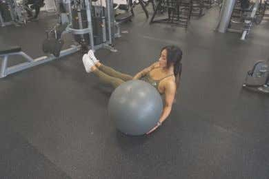 EXERCISE LIBRARY: WEEK 2 DAY 2 V-ups Ball side to side Russian twists 29
