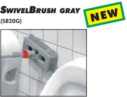 SWIVELBRUSH GRAY (SB20G) NEW
