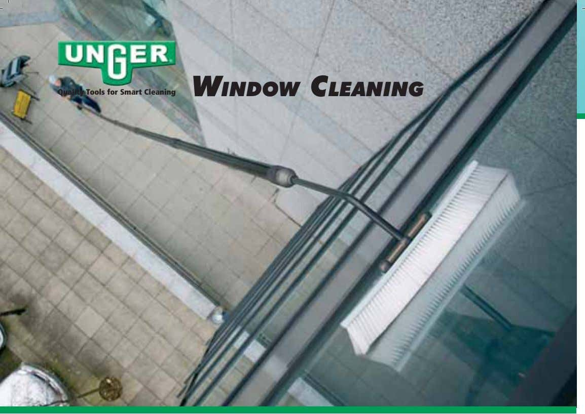 WINDOW CLEANING Quality Tools for Smart Cleaning