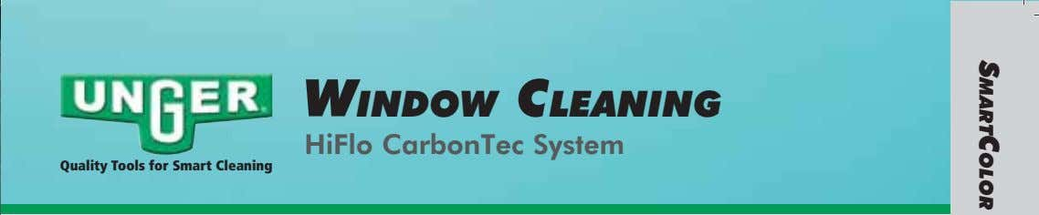 WINDOW CLEANING HiFlo CarbonTec System Quality Tools for Smart Cleaning SMARTCOLOR