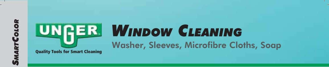 WINDOW CLEANING Washer, Sleeves, Microfibre Cloths, Soap Quality Tools for Smart Cleaning