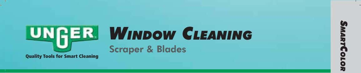 WINDOW CLEANING Scraper & Blades Quality Tools for Smart Cleaning SMARTCOLOR