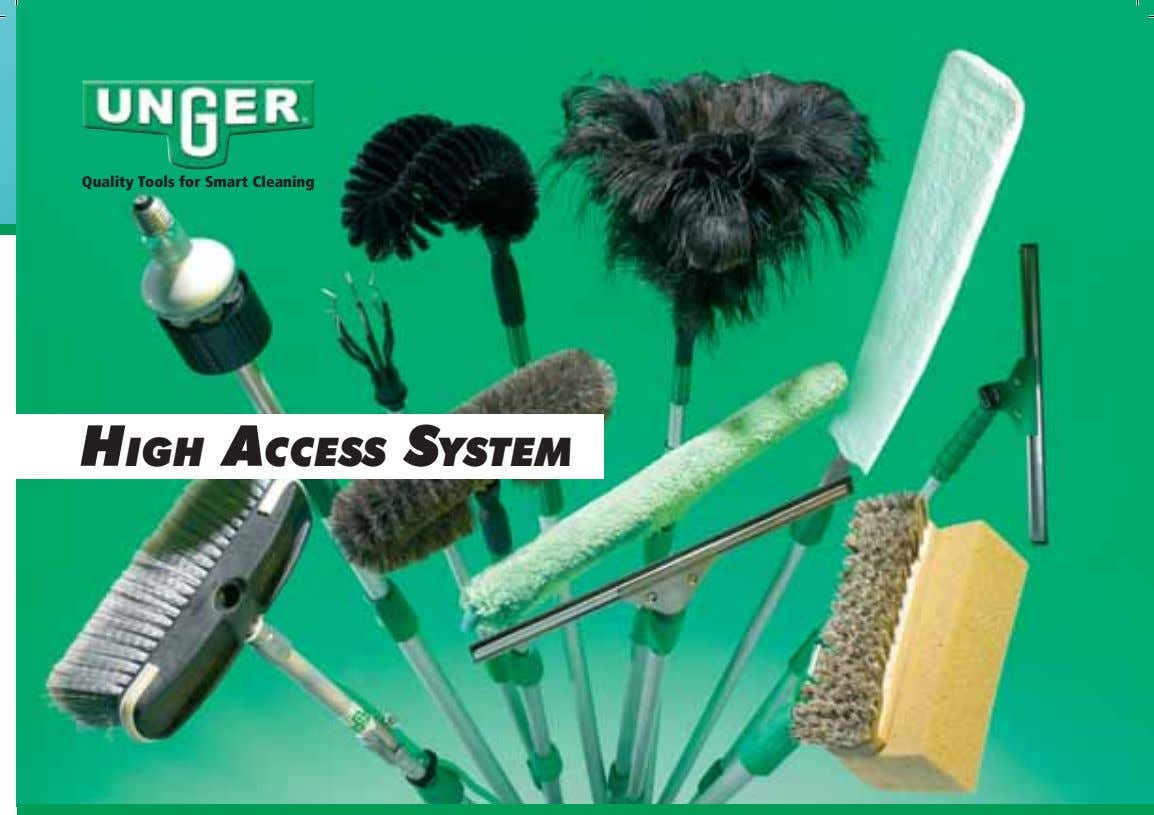 Quality Tools for Smart Cleaning HIGH ACCESS SYSTEM