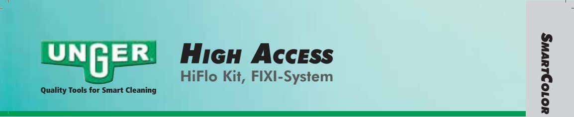 HIGH ACCESS HiFlo Kit, FIXI-System Quality Tools for Smart Cleaning SMARTCOLOR