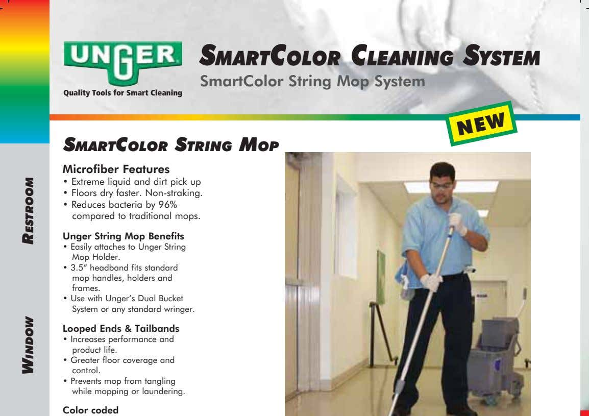 SMARTCOLOR CLEANING SYSTEM SmartColor String Mop System Quality Tools for Smart Cleaning SMARTCOLOR STRING MOP