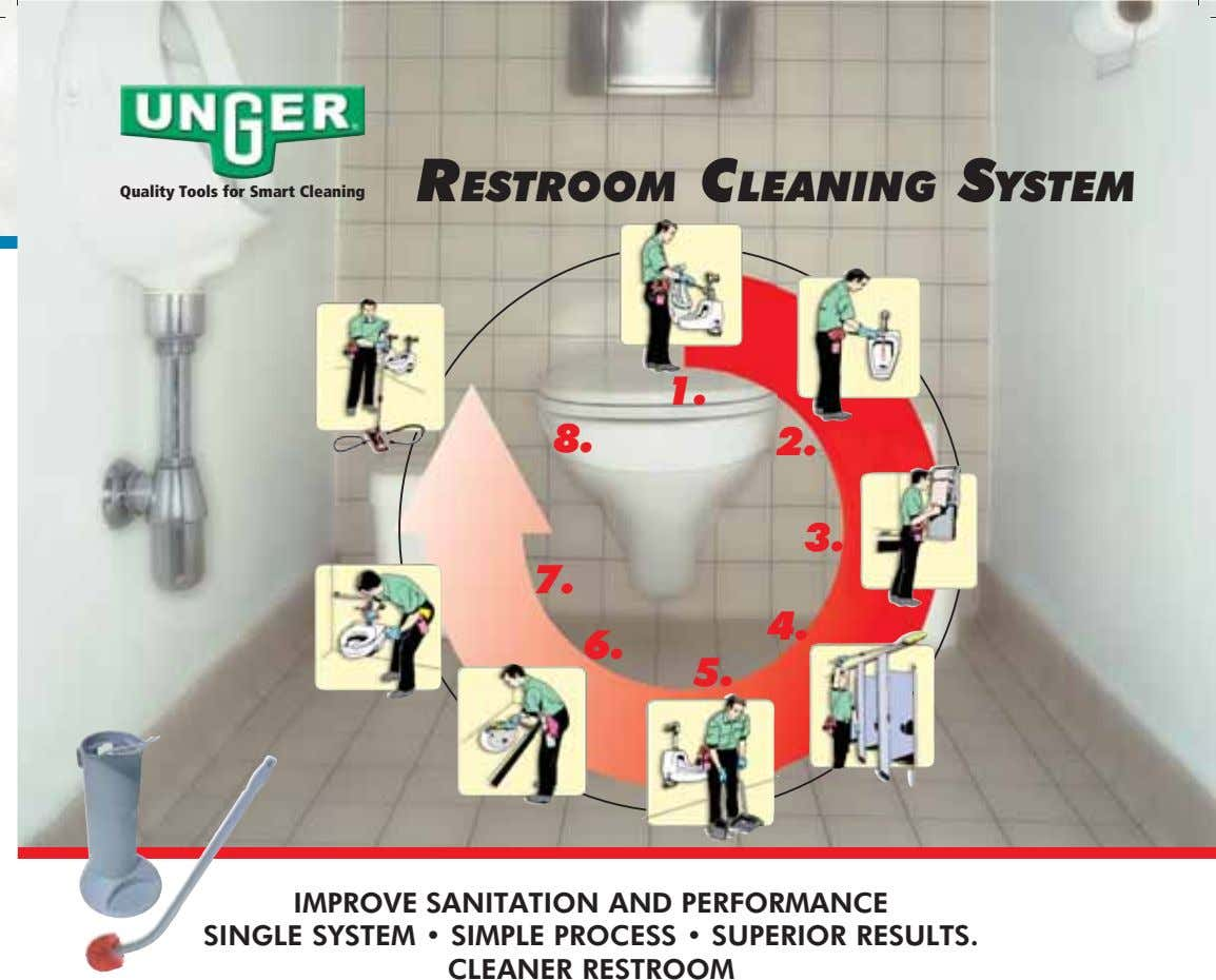 RESTROOM CLEANING SYSTEM Quality Tools for Smart Cleaning 1. 8. 2. 3. 7. 4. 6.