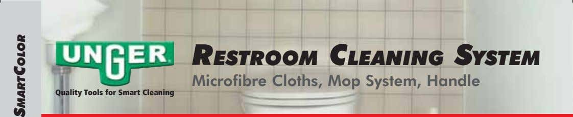 RESTROOM CLEANING SYSTEM Microfibre Cloths, Mop System, Handle Quality Tools for Smart Cleaning