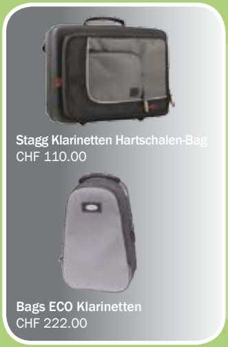 Stagg Klarinetten Hartschalen-Bag CHF 110.00 Bags ECO Klarinetten CHF 222.00