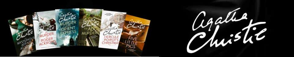 Brand new editions of the bestselling Hercule Poirot mysteries To coincide with the last ever