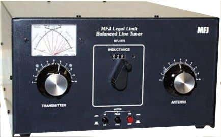 Four separate 500 pF more! Heavy duty 1:1 current balun The MFJ-976 is a 1500Watt full
