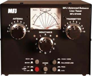 fed antennas. Compact 7½Wx6Hx8D inches fits any- where. Tunes any Balanced Line The MFJ-974HB tunes any