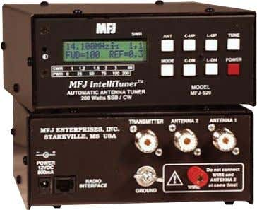 MHz Digital SWR/Wattmeter Audio SWR meter Radio interface The MFJ-929 IntelliTuner-Compact T M lets you