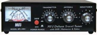 inches. Travel Tuner with Cross-Needle SWR/Wattmeter MFJ-904 $ 129 9 5 Ship Code A MFJ-904 ,
