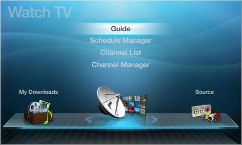 Watch TV Guide Schedule ❑ Manager Channel ❑List Channel ❑ Manager My ❑ Downloads Source