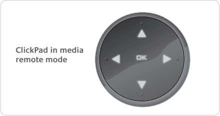 ClickPad in media remote mode