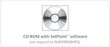 CD-ROM with SetPoint ™ software (not required for PLAYSTATION ® 3)