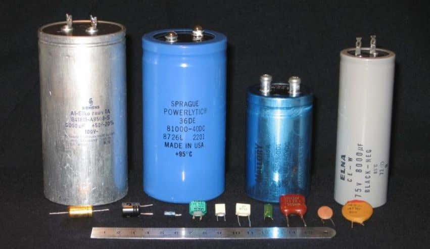 Capacitors A capacitor or condenser is a passive electronic component consisting of a pair of conductors