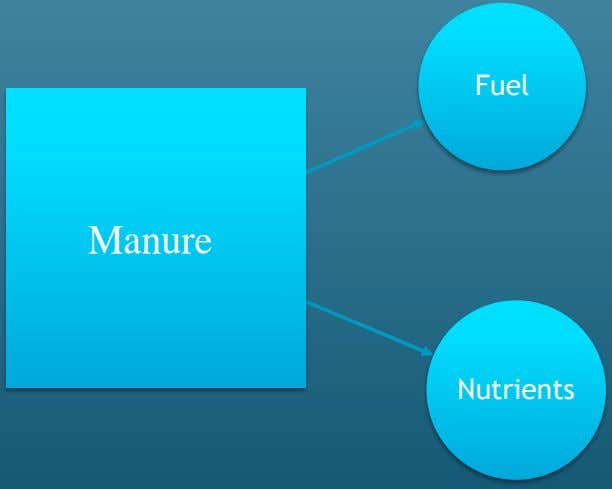 Fuel Manure Nutrients