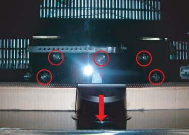 Description Screws 1. Place monitor face down on cushioned table. Remove screws from the Stand. Remove
