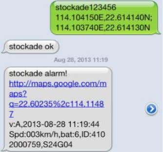 "this function,tracker will reply ""nostockade ok"". 5.11Movement alert 5.11.1 Set up: When the unit stays"
