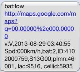 "3.7V, it will send SMS: ""bat:l"" at 30 minutes interval. 5 . 1 5 T e"
