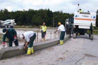 kerbs, gutters provincial roads large areas Figure 8. Large, medium and small slipformpaver (from left