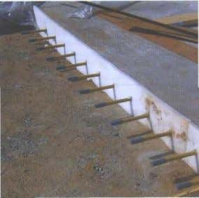 strip to create a contraction joint (right) (CROW, 2004). Figure 18. Dowel bars in a construction