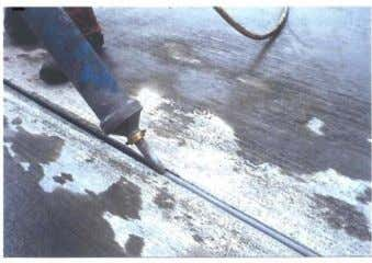 and expansion joint near a roundabout (right) (CROW, 2004). Figure 21: Joint filling materials: warm bituminous