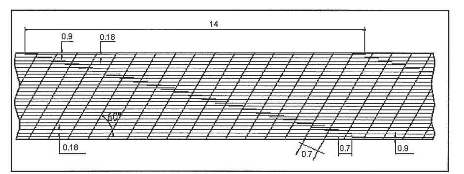interference with the transverse reinforcement steel bars. Figure 26. General arrangement of reinforcing steel (top)