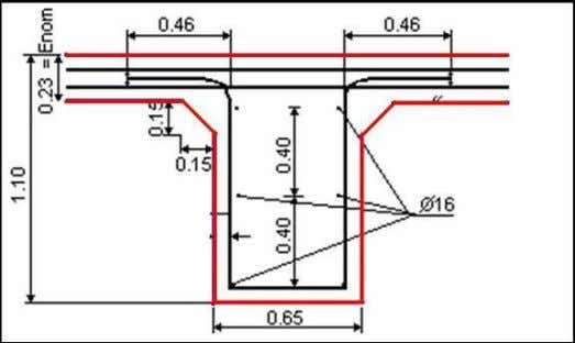 expansion joint is similar to the one applied in bridges. Figure 27. Anchorage lugs to restrain