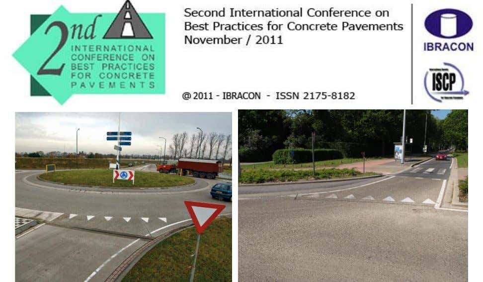 Figure 34. Expansion joint between concrete road and concrete roundabout (CROW, 2004). In case a