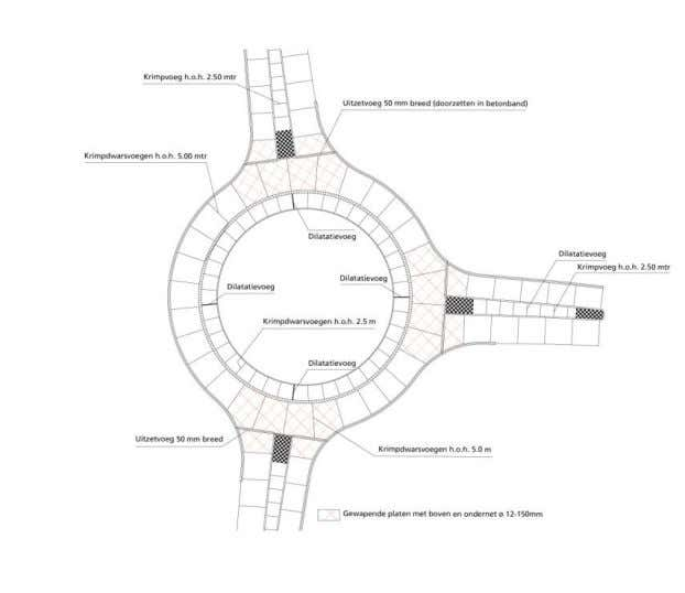 placed concrete or precast concrete elements is constructed. Figure 35. Example of a 1-lane roundabout with