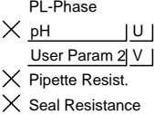 PL-Phase pH U User Param 2 V Pipette Resist. Seal Resistance