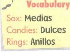 .,; Voca ul ry Sox Medias Cand1es: Dulces Rings. Anillos