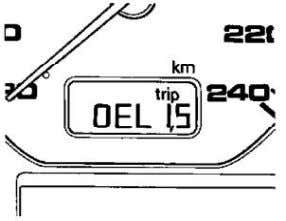 "(miles/km) for maintenance every 30,000 miles (48,000 km) - With ""OEL1. S"" indicated on display, press"
