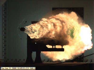 "translated ""I am speed and I destroy,"" or similar. Naval Surface Warfare Center test firing in"