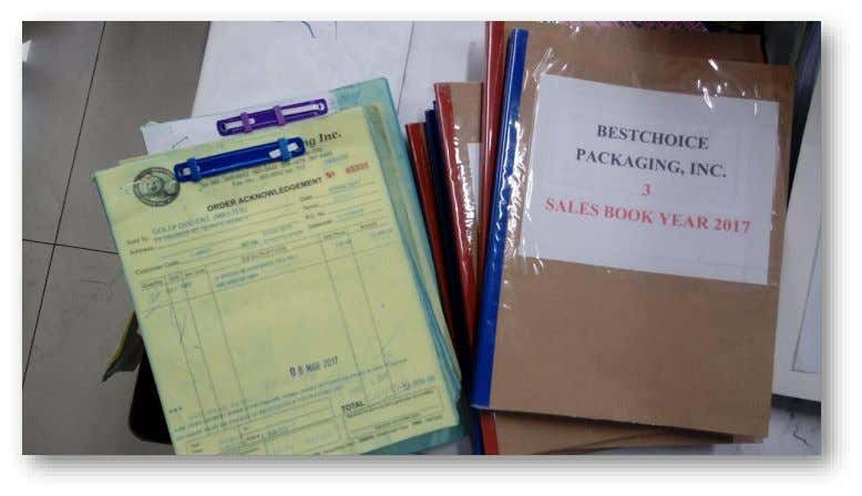 Bookkeeping Sales Invoice and Order Acknowledgment A Case Study on Bestchoice Packaging Inc.
