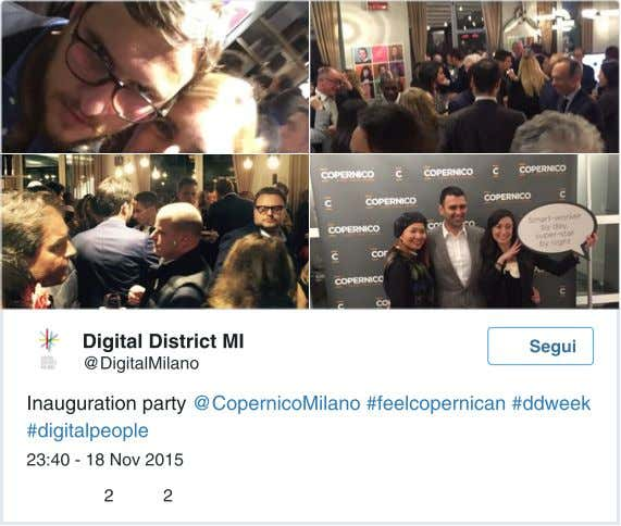 D igital District MI Segui @DigitalMilano I nauguration party @CopernicoMilano #feelcopernican #ddweek #digitalpeople
