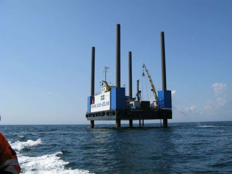 Picture 2.1: Sound Prospector equipped with GEOs drilling rig on the Anholt Offshore Wind Farm