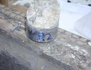 Result 2 • Half of the fracture at substrate, bond strength = 18psi (0.6 MPa) -